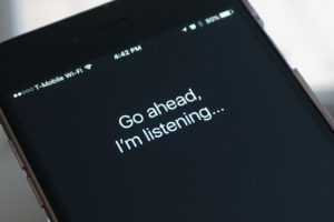 Apple's Siri voice command