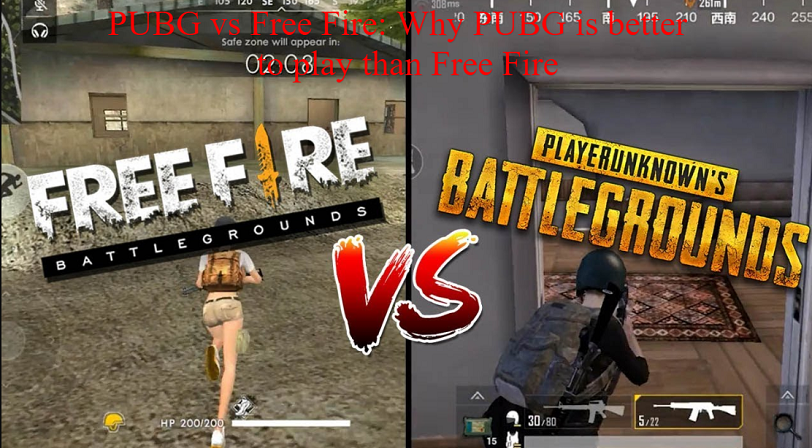 Pubg Vs Free Fire Why Pubg Is Better To Play Than Free Fire