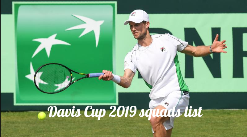 Davis Cup 2019 teams finalized