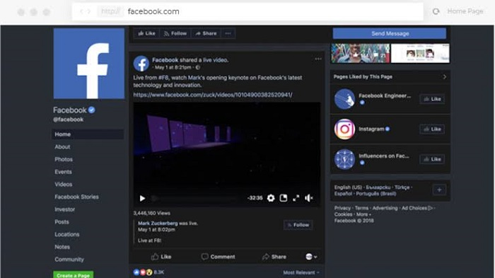 Facebook Dark mode is rolling out