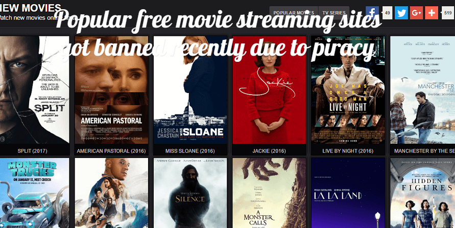 Popular free movie streaming sites got banned recently due to piracy