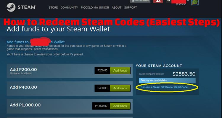 How to Redeem Steam Codes (Easiest Steps)
