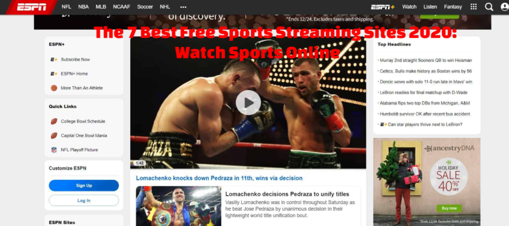 The 7 Best Free Sports Streaming Sites 2020: Watch Sports Online