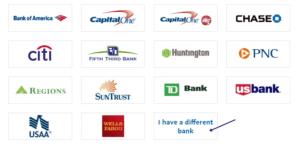 choose banks in paypal